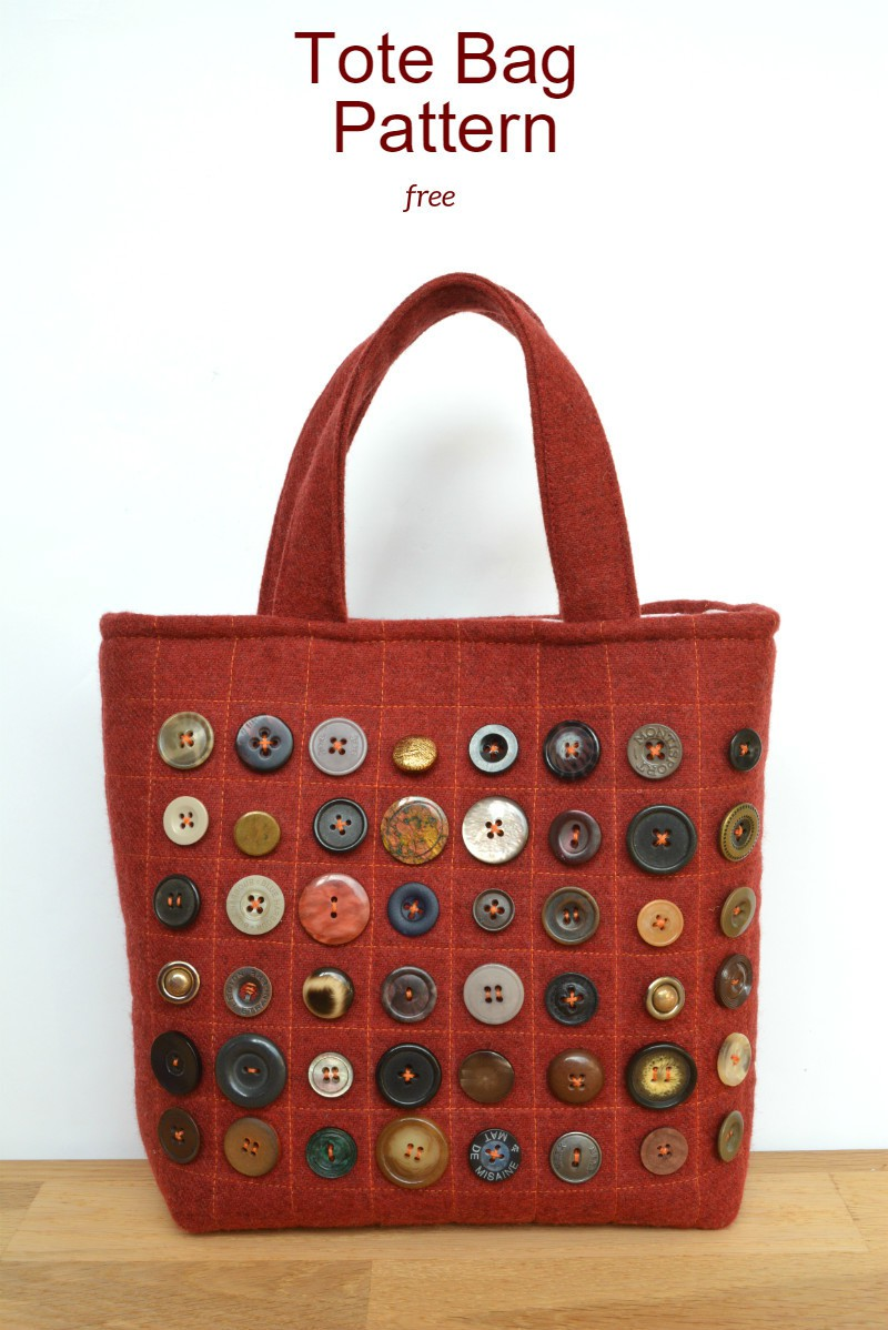 Friday Spotlight Vicky S Refashioned Button Tote Free
