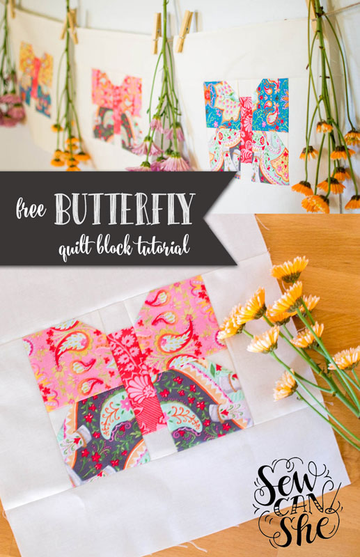 Classic Blocks: Fresh Fabric... a Butterfly Quilt Block Tutorial ... : butterfly quilt blocks - Adamdwight.com