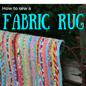 How to sew a fabric rug from Vintage Ric Rac
