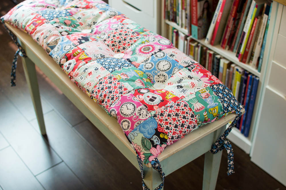 Diy Patchwork Piano Bench Or Anywhere Cushion Free