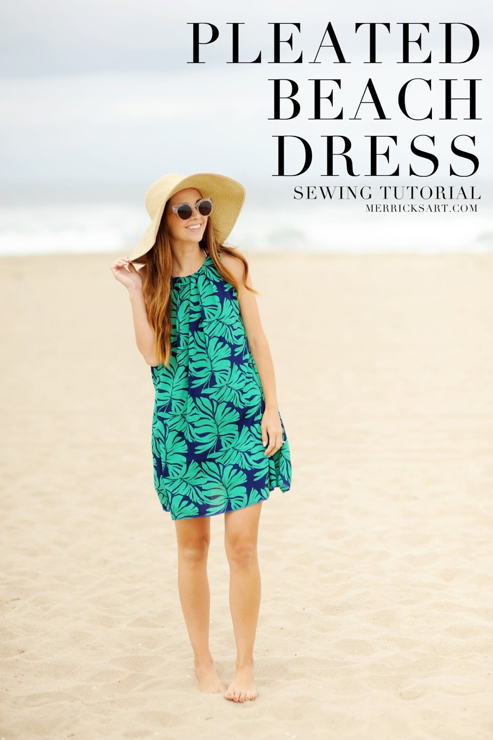 PLEATED BEACH DRESS From Merricks Art
