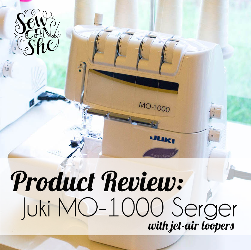 Product Review Juki Mo 1000 Serger With Jet Air Loopers