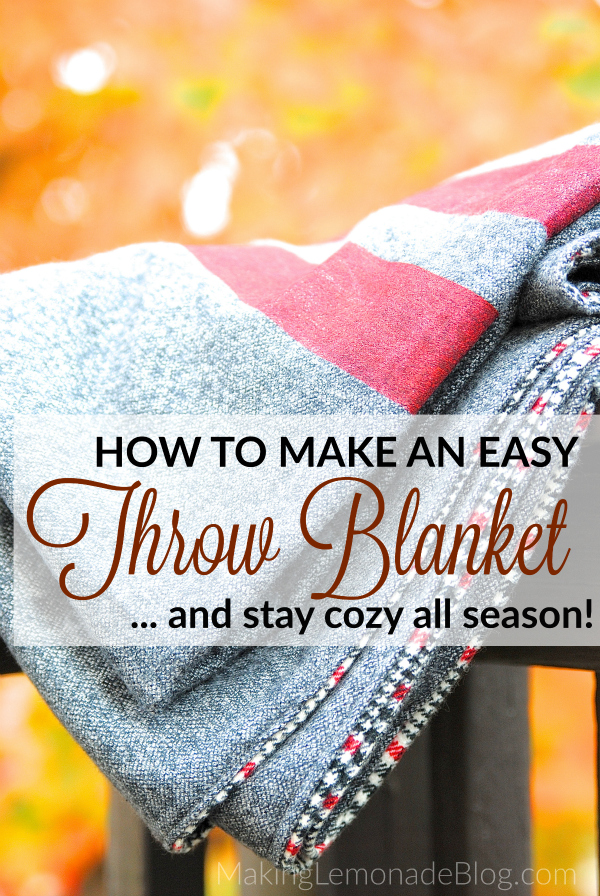 DIY THROW BLANKET TUTORIAL from making lemonade