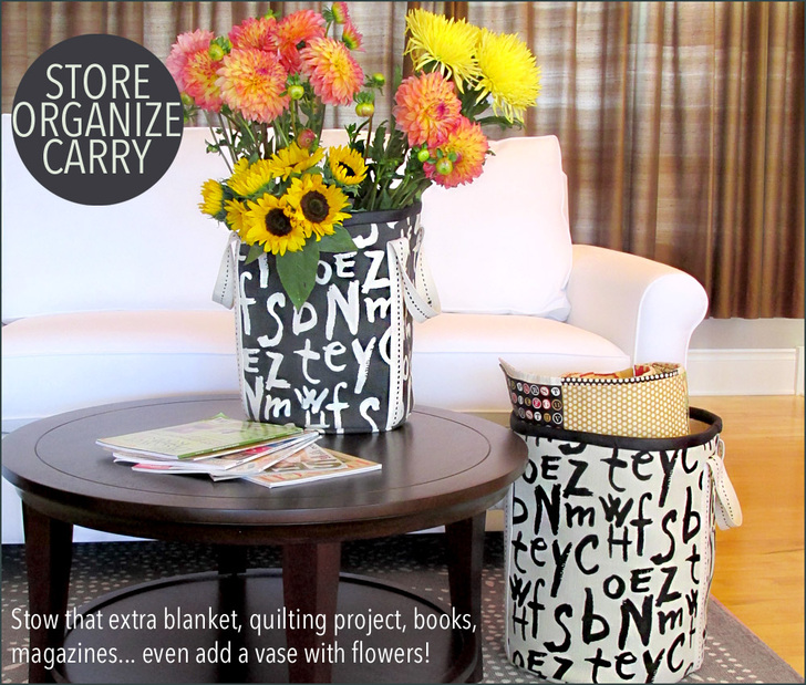 Tall, Bold Storage Bins from Sew 4 Home
