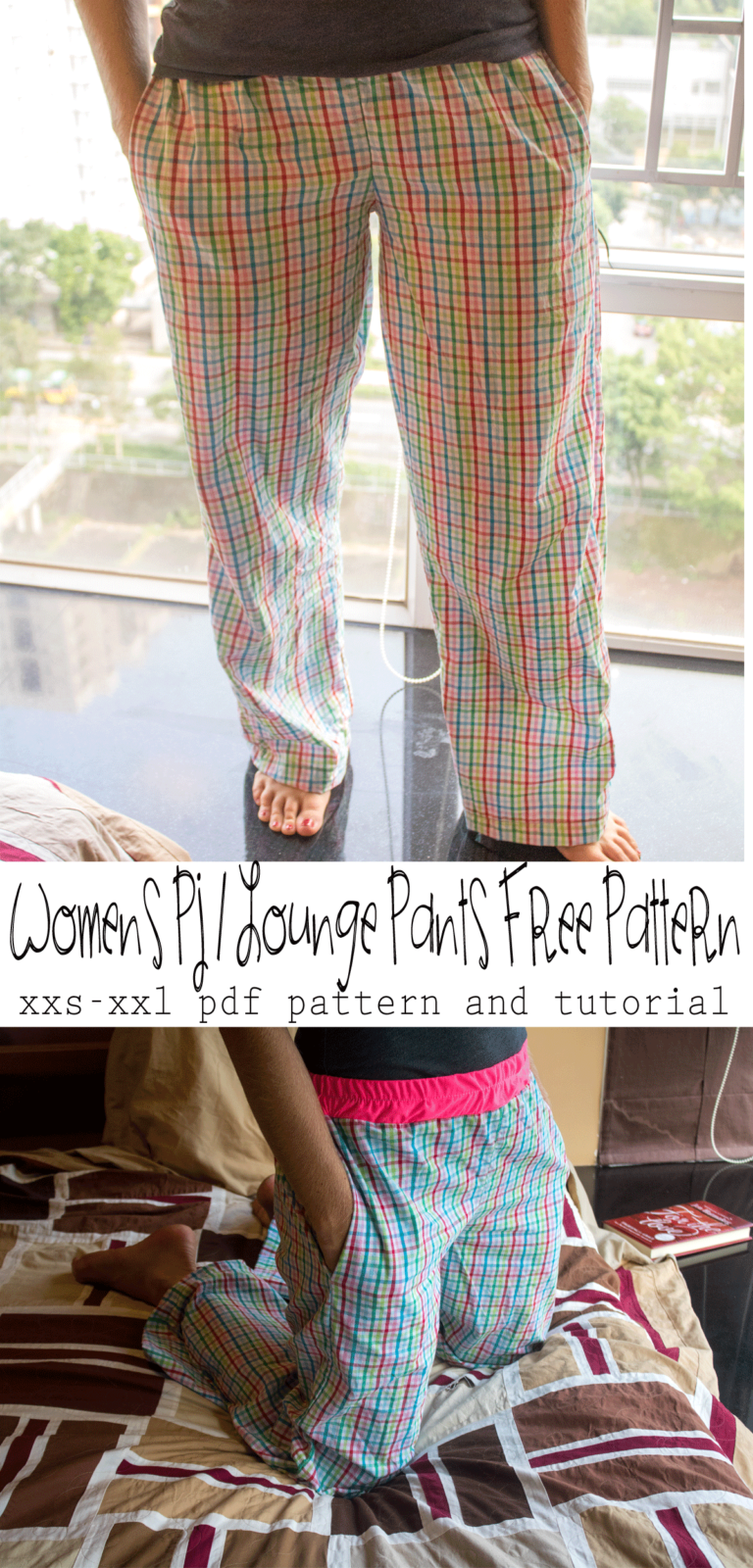 Womens Pj / Lounge Pants Free Pattern from Nap Time Creations
