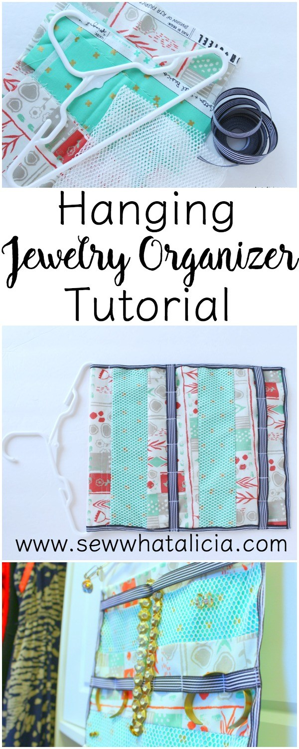 Hanging Jewelry Organizer  from Sew What Alicia