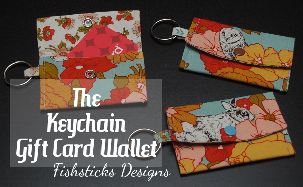 KEY CHAIN GIFT CARD WALLET from Skip to my Lou