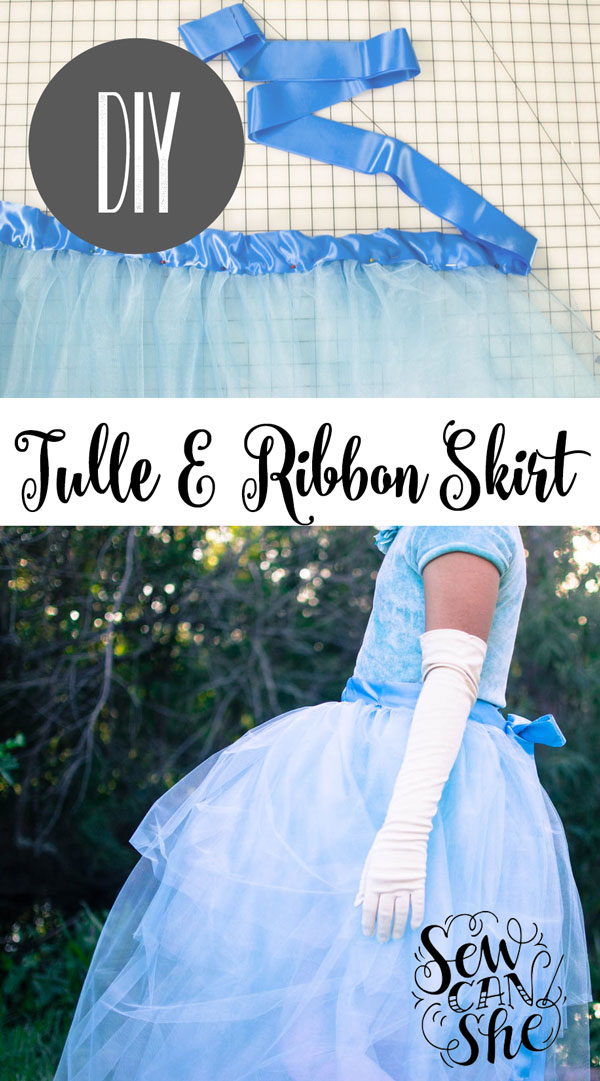 Diy Tulle And Ribbon Wrap Around Skirt Sewcanshe Free Sewing
