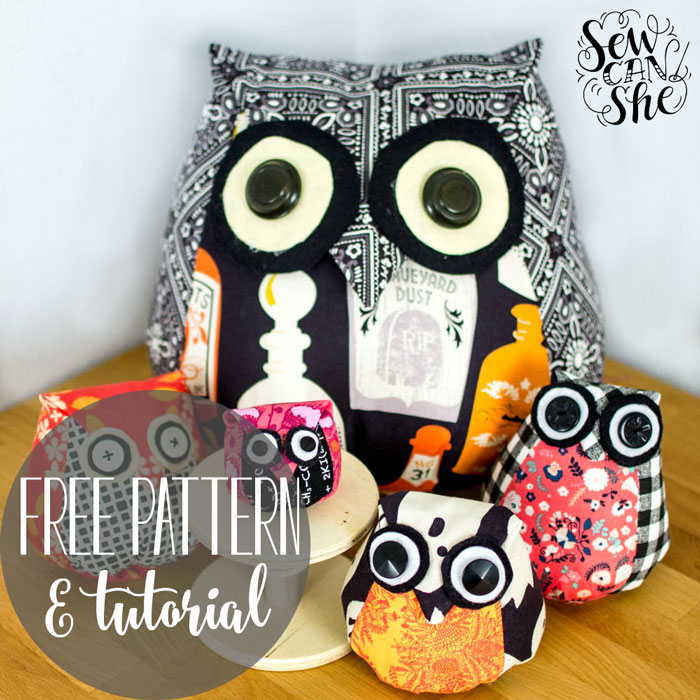 Adorable Owls Free Sewing Pattern Tutorial Sewcanshe Free