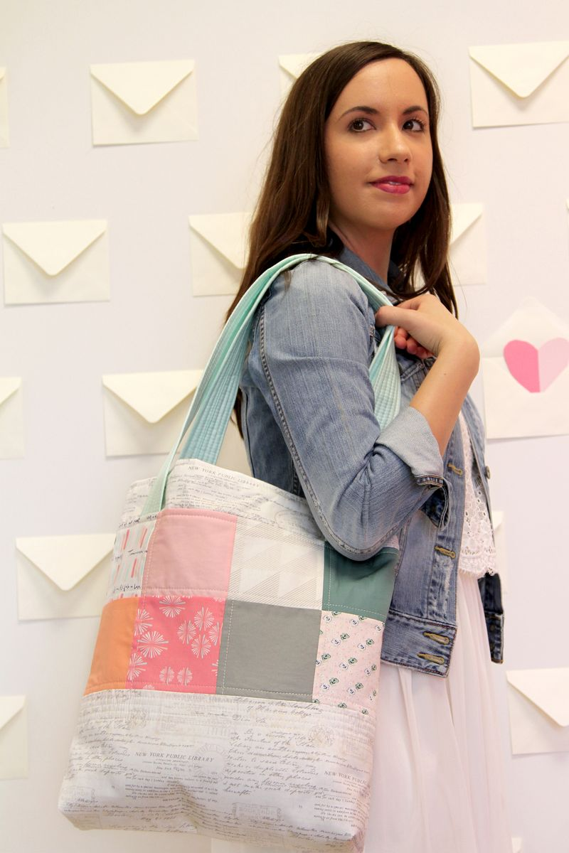 Elise Tote Bag Tutorial from agf blog