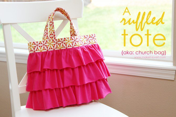 Kids Ruffled Tote from Make It & Love It