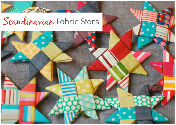 Scandinavian Fabric Stars from Crafting a Rainbow