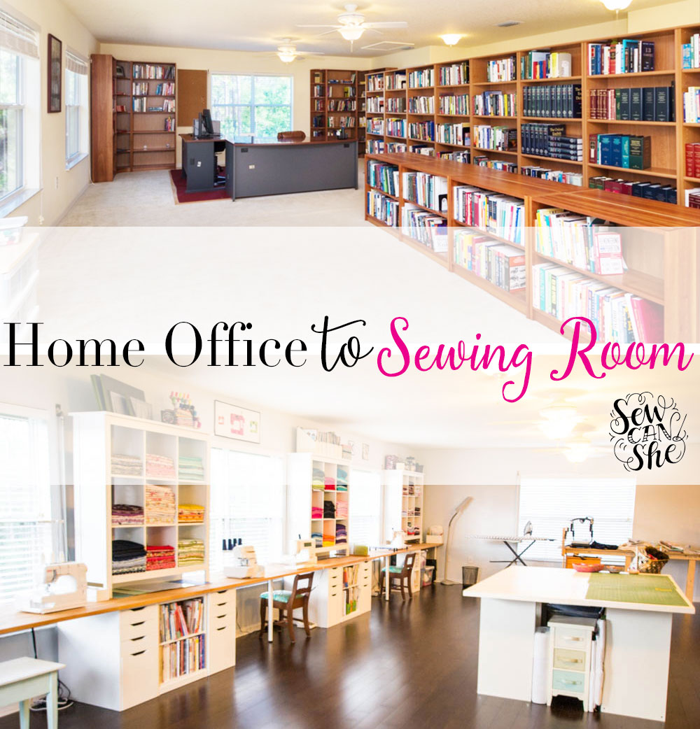 Amazing My Home Office To Sewing Studio Remodel Is Finished! U2014 SewCanShe | Free  Sewing Patterns For Beginners