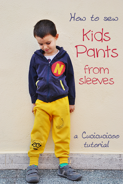 REFASHION TUTORIAL: MAKE PANTS FROM SLEEVES from CUCICUCICOO