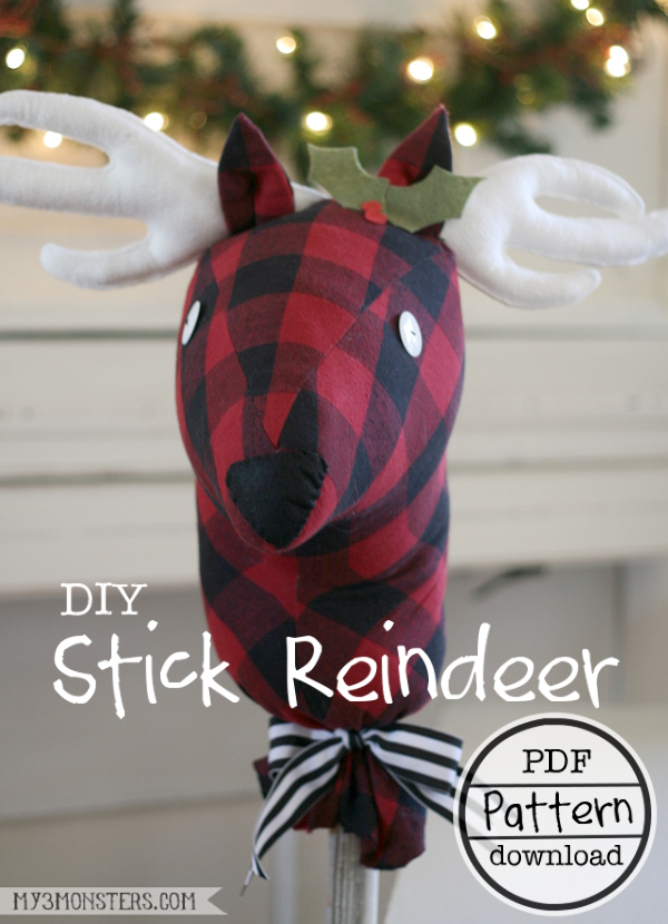 DIY STICK REINDEER from Skip to my Lou