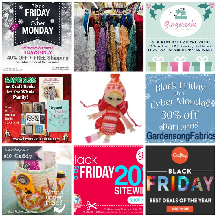 12 Fabulous Sewing Sales for Black Friday 2016! — SewCanShe | Free ...