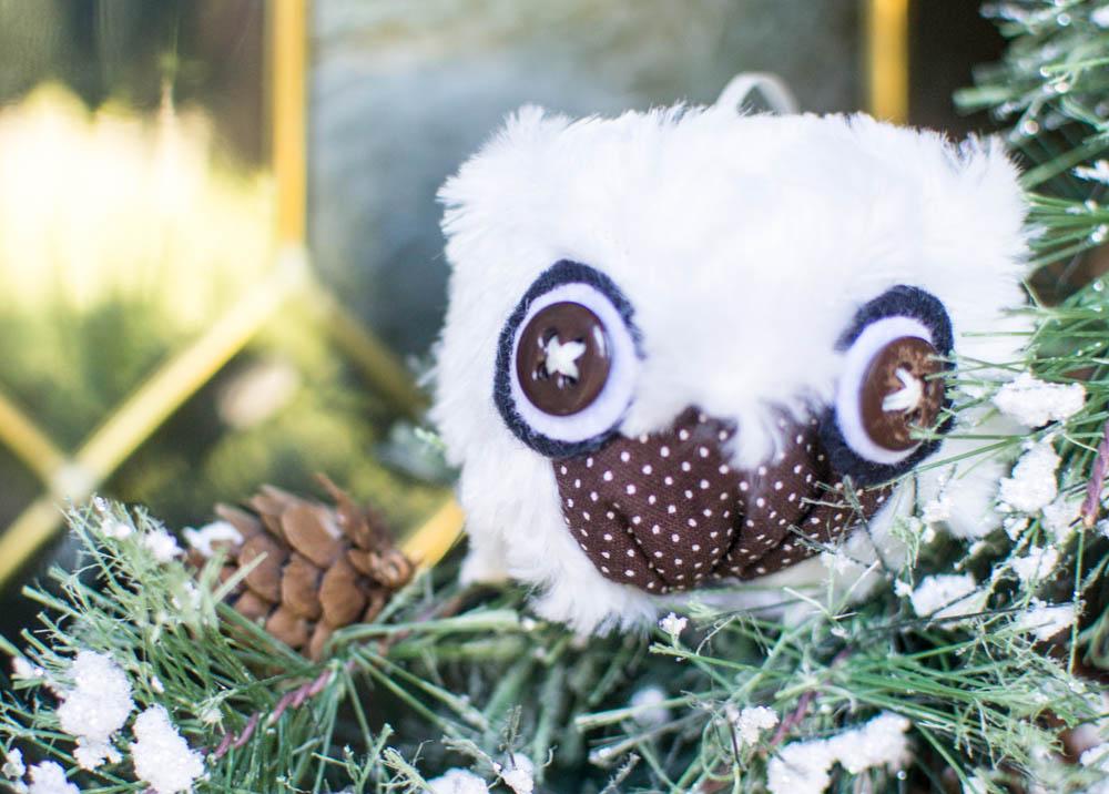 Show Off Saturday DIY Owl Christmas Ornaments  SewCanShe