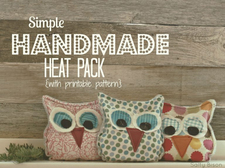 Handmade Owl Heat Pack from Thirty Handmade Days