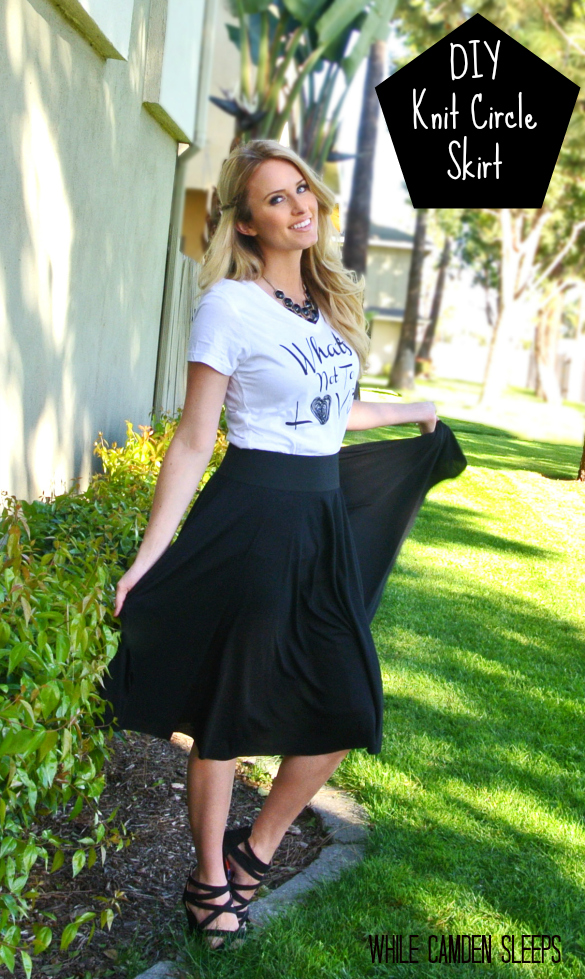 DIY KNIT CIRCLE SKIRT from Pretty Providence