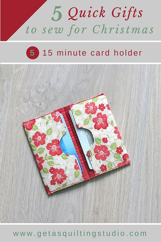 Card holder tutorial from Geta's Quilting Studio