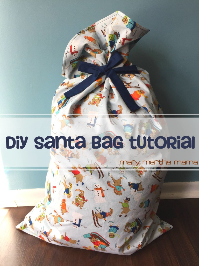 Santa Bag Tutorial from Mary Martha Mama