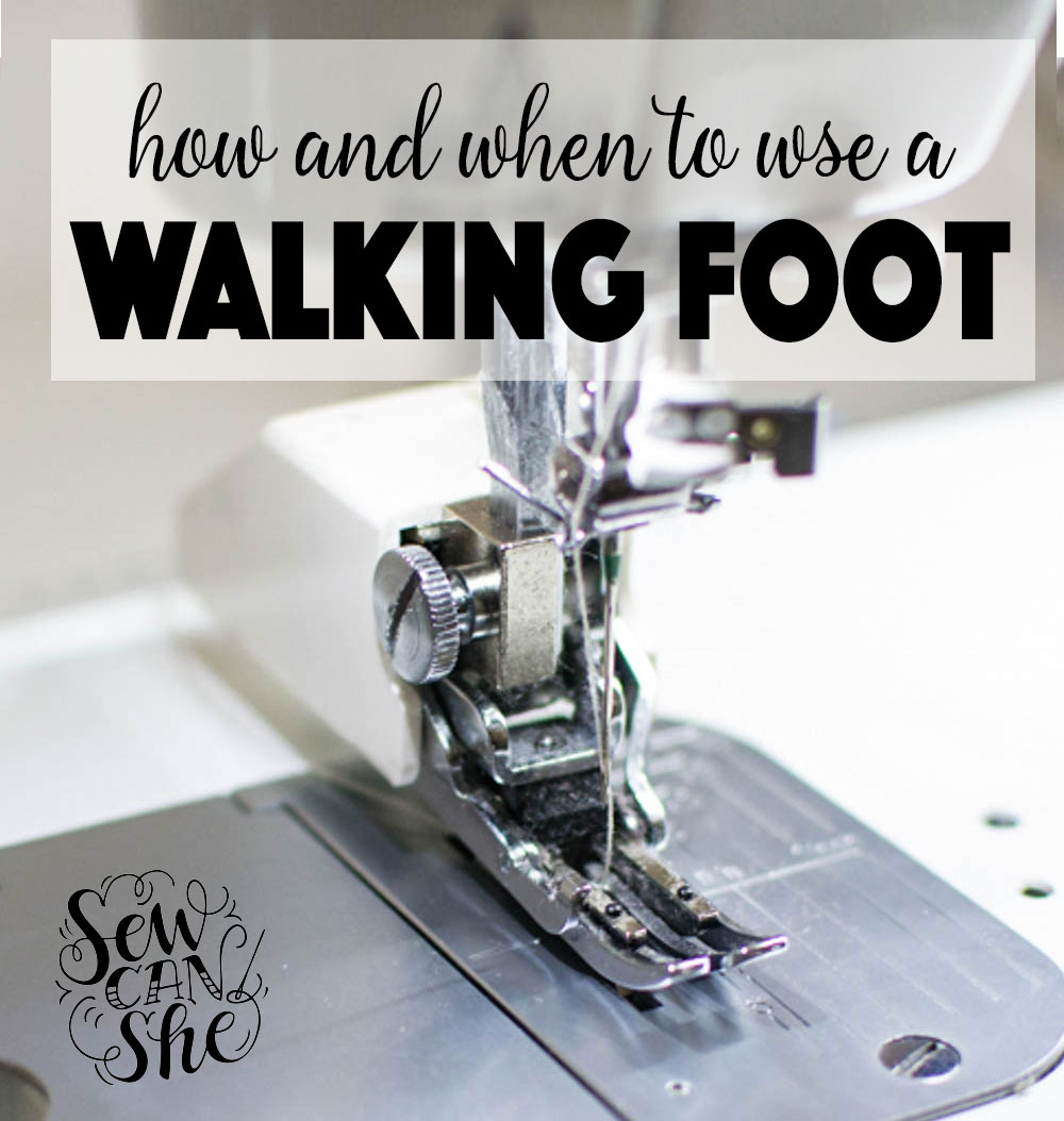 walking foot sewing machine