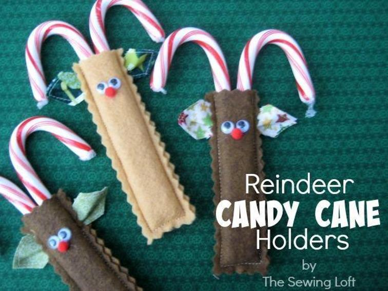 Reindeer Candy Cane Holder from Craftsy