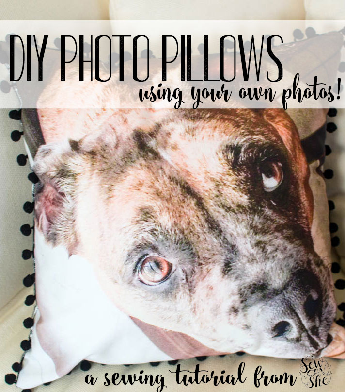 How to Make Your Own Photo Pillows! {free sewing tutorial ...