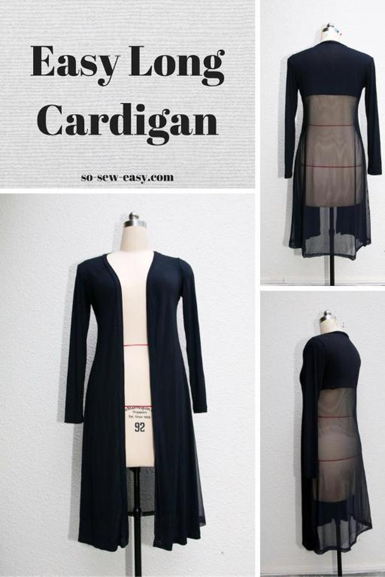 Easy Long Cardigan from So Sew Easy