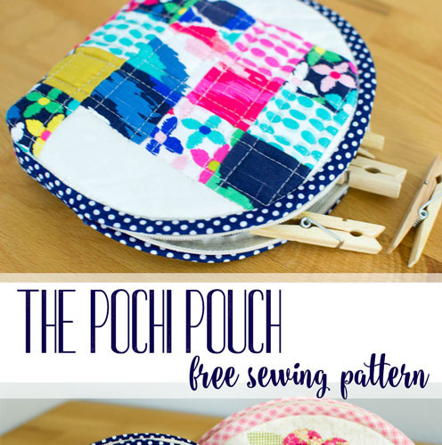 Pochi Pouch free sewing pattern.
