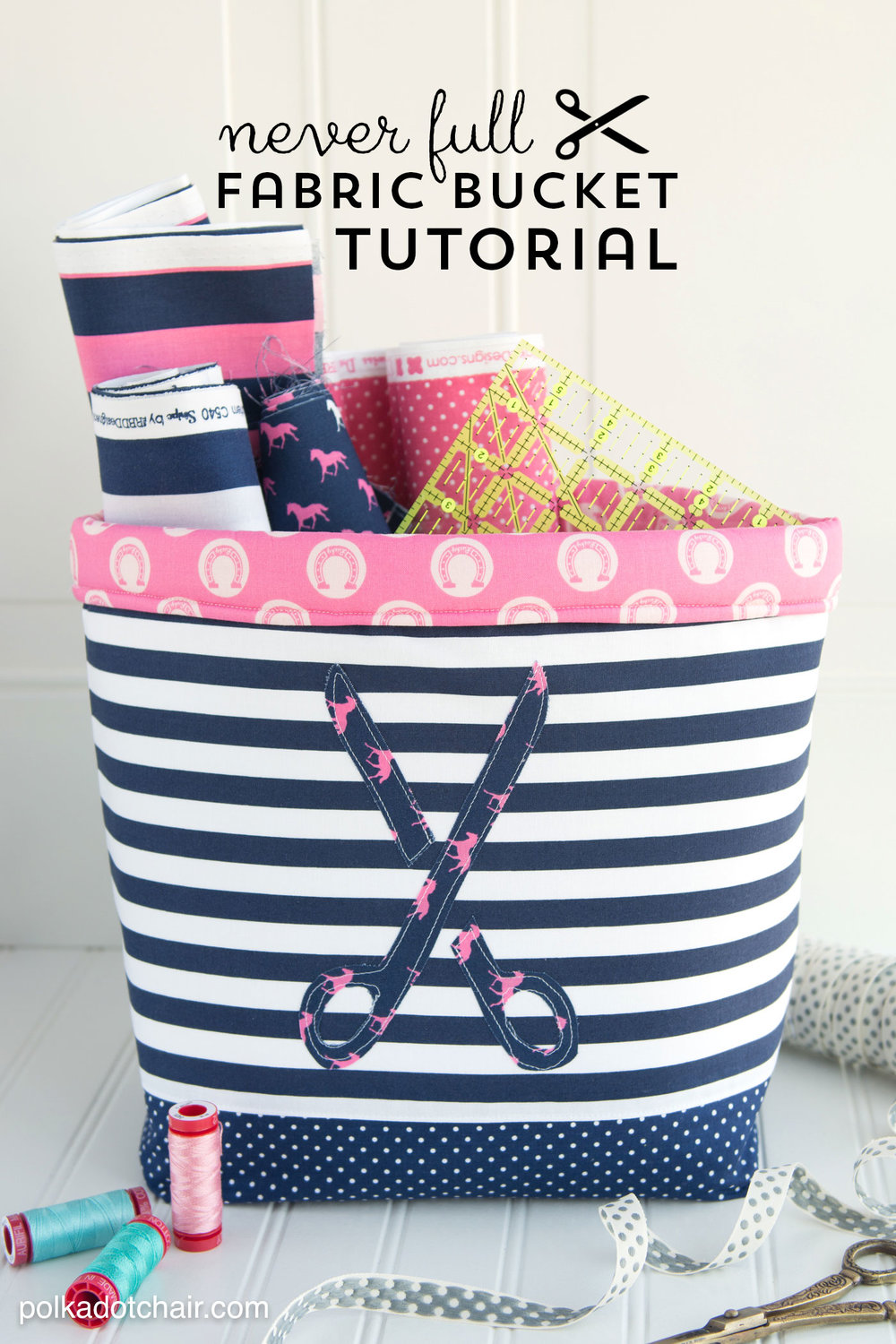 FABRIC BASKET TUTORIAL from Polka Dot Chair