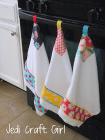 Kitchen Towel Makeover from Jedi Craft Girl