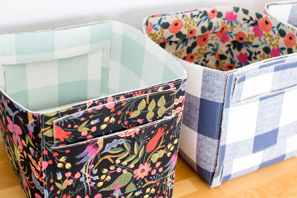 color choices for fabric storage basket