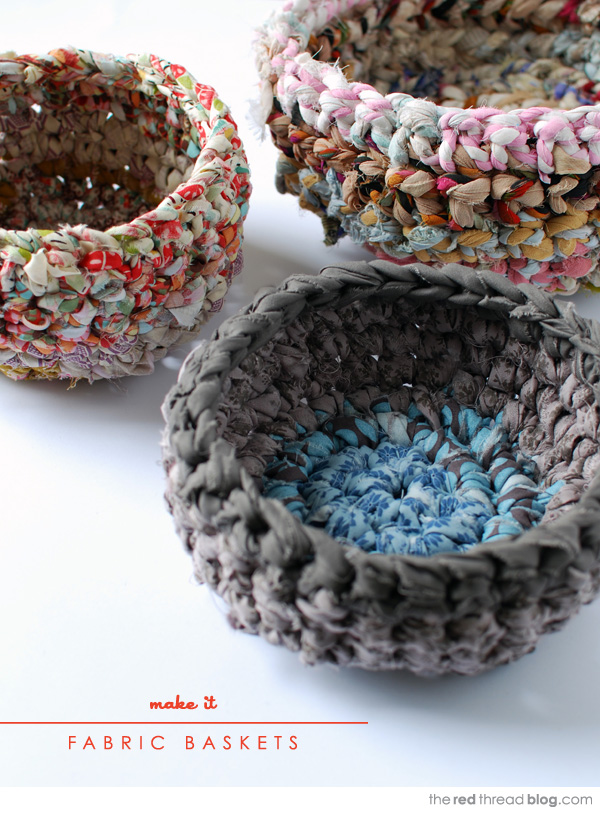 Fabric Crochet Basket  from We are Scout