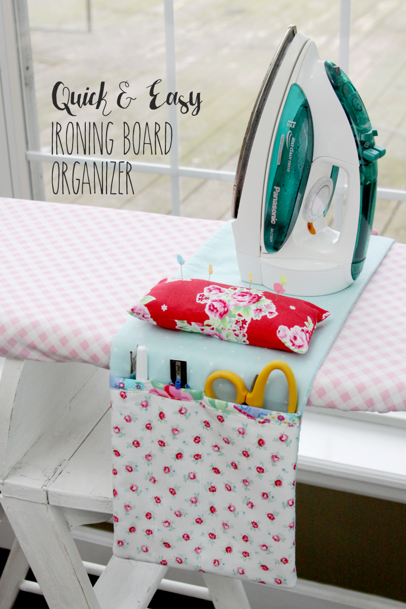 Easy DIY Ironing Board Organizer from Flamingo Toes