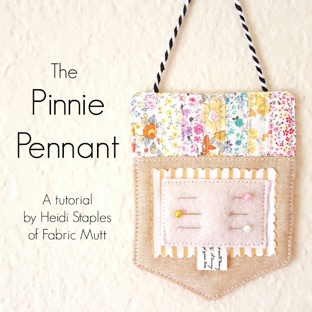 Pinnie Pennant Tutorial from Fabric Mutt