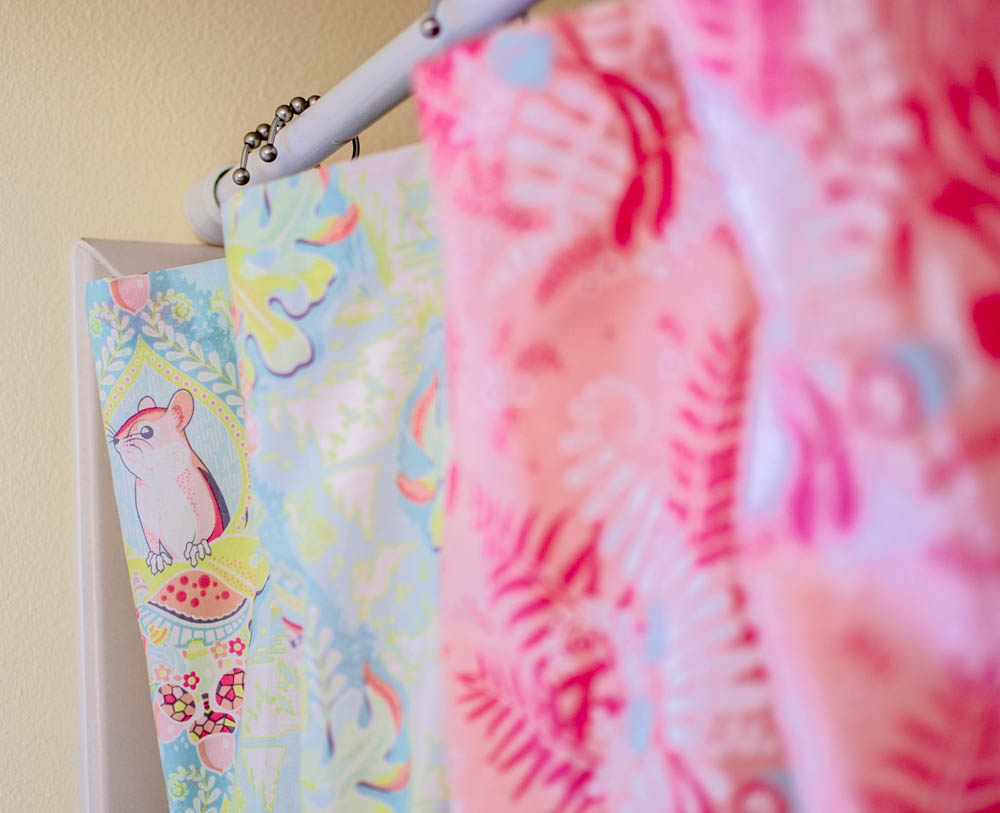 Patchwork shower curtain tutorial - Sew A Patchwork Shower Curtain From Fat Quarters