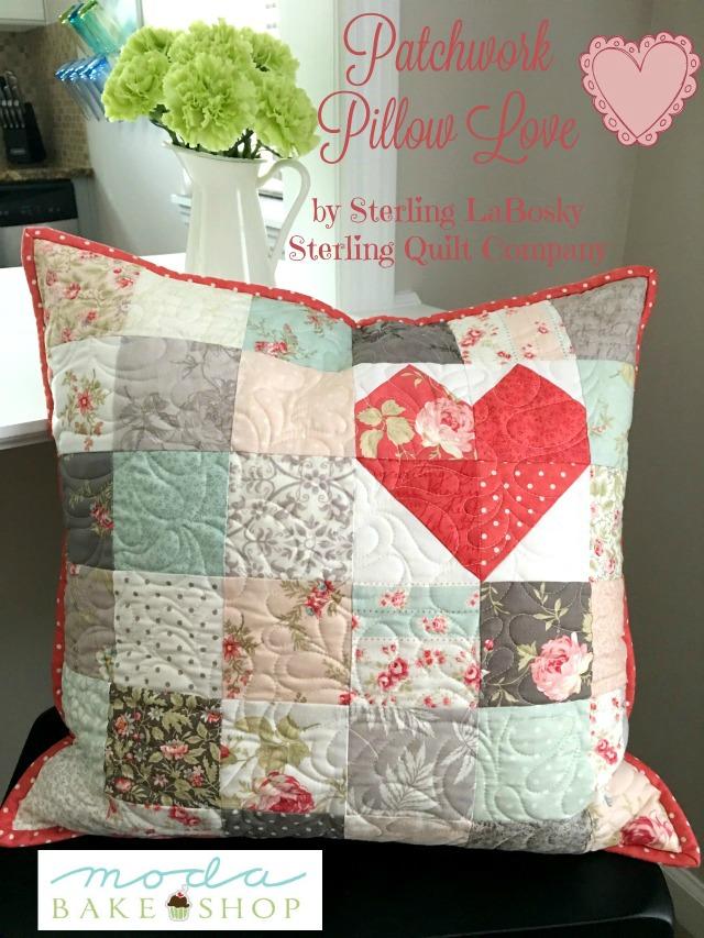 Patchwork Pillow Love by Moda Bake Shop