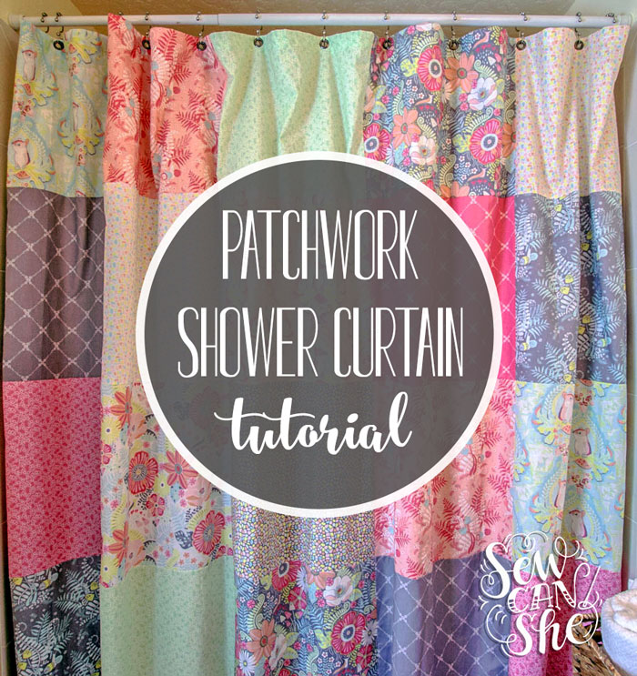 Sew A Patchwork Shower Curtain From Fat Quarters Sewcanshe Free