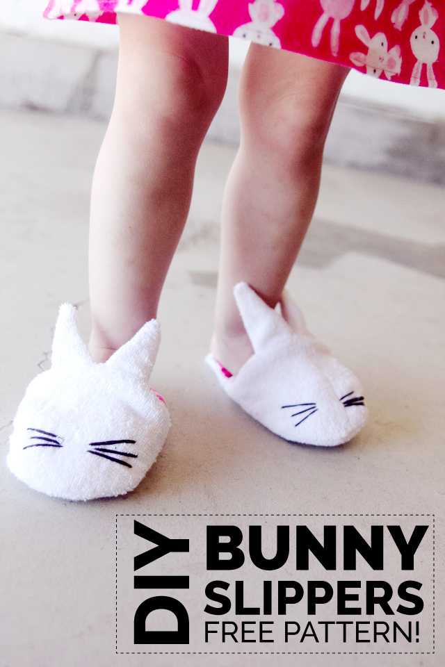 bunny nightgown + bunny slippers pattern from See Kate Sew