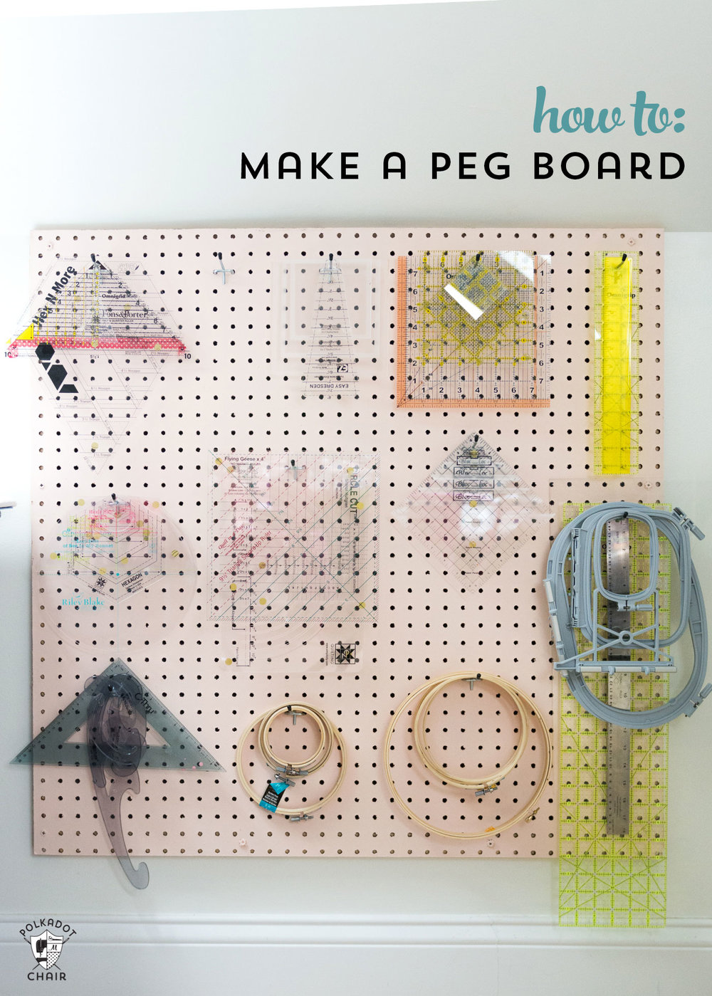 PEG BOARD FOR YOUR CRAFT OR SEWING ROOM from Polka Dot Chair
