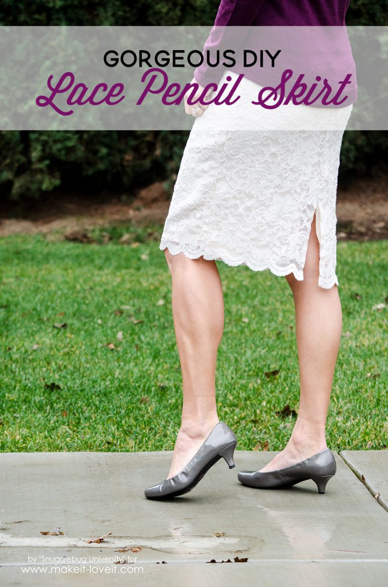 DIY Lace Pencil Skirt from Make It & Love It