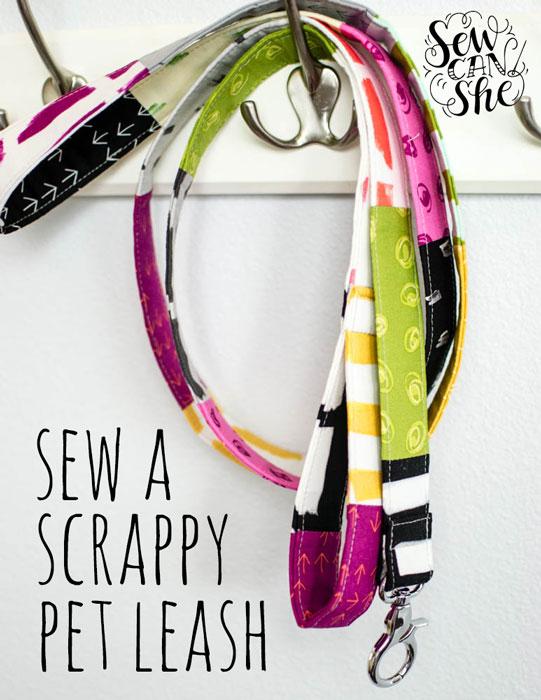 DIY Scrappy Pet Leash - free sewing tutorial