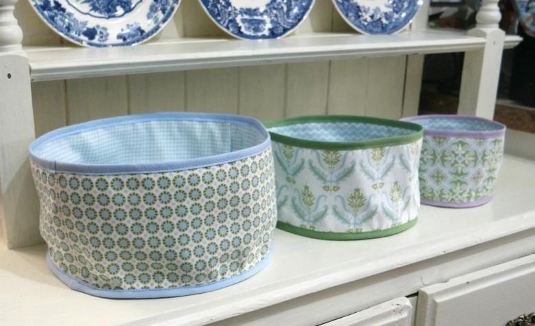Round Fabric Baskets from Minerva crafts