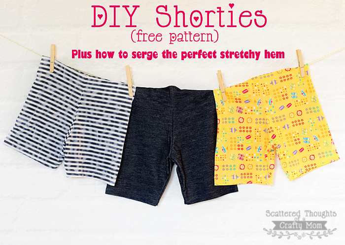 Easy Kids Shorts from Scattered Thoughts of a Crafty Mom