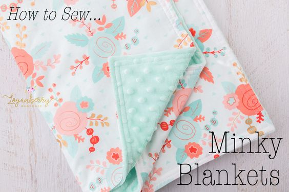 Minky Baby Blanket Tutorial from Loganberry Handmade