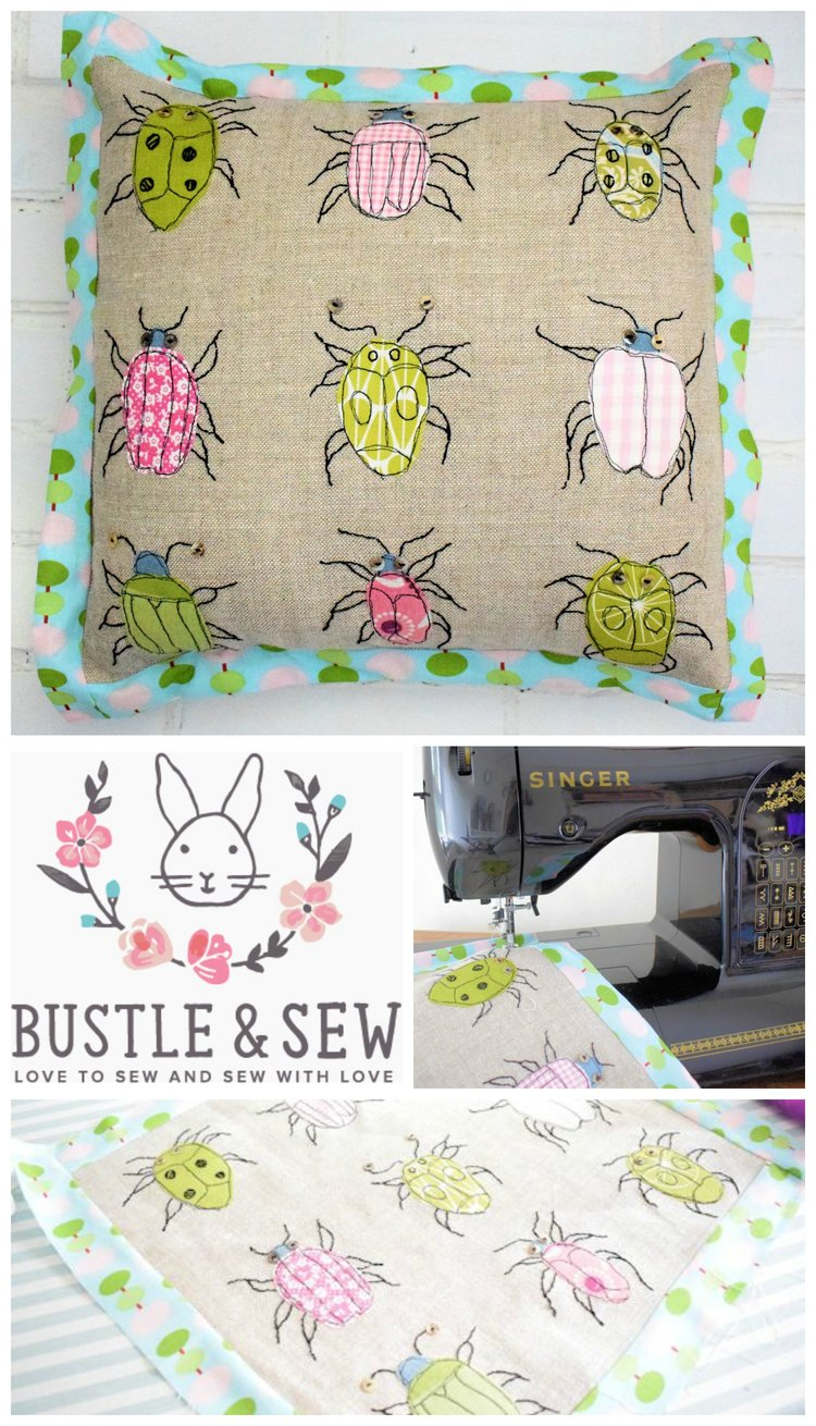 Adorable bugs cushion free throw pillow sewing pattern adorable bugs cushion free throw pillow sewing pattern sewcanshe free sewing patterns for beginners jeuxipadfo Gallery