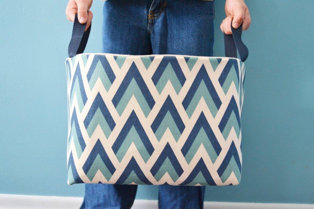 DIY Fabric Basket Tutorial from Mary Martha Mama