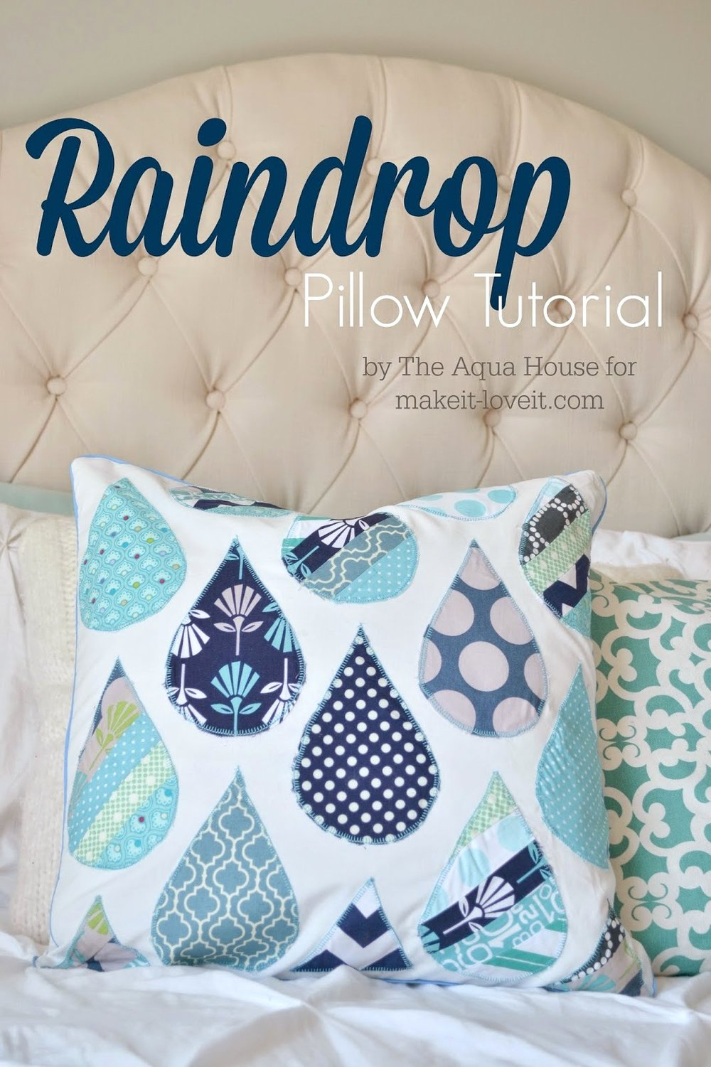 Raindrop Pillow Tutorial from Make It & Love It