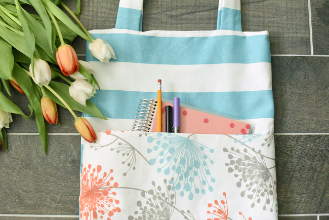 EASY TOTE BAG TUTORIAL from Crazy Little Projects